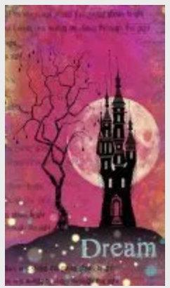 Far World Castle by Lavinia Stamps LAV534 Artist Tracey Dutton avaIlable at Del Bello's Designs