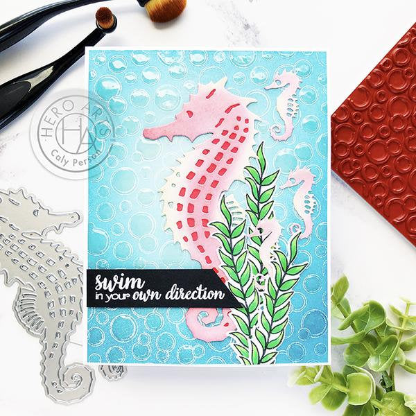 Seahorses Paper Layering Die Set by Hero Arts available at Del Bello's Designs