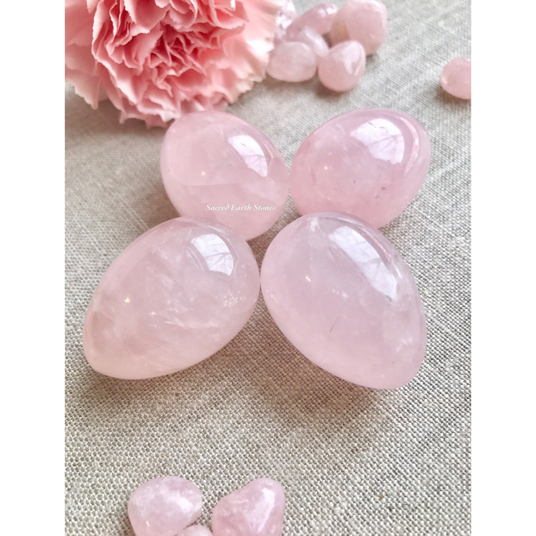 Rose Quartz Medium Undrilled Yoni Egg