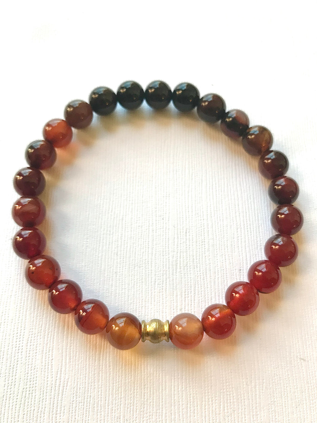 "Mens ""Just like a Sunset"" Dream Agate Bracelet"