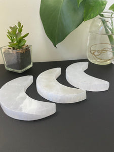 4 inch Selenite Crescent Moon