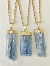 Load image into Gallery viewer, Blue Kyanite & Crystal Quartz Necklace