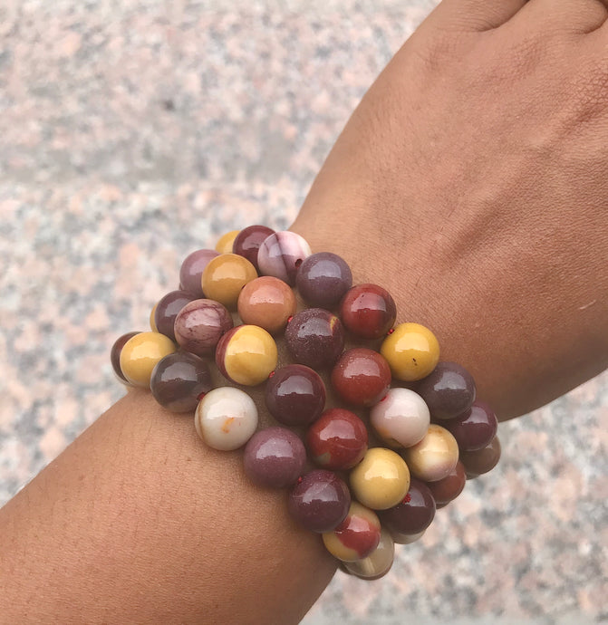 Mookaite Jasper Bracelet - Root, Sacral and Solar Plexus Chakras - Cleanses, Grounds and Strengthens