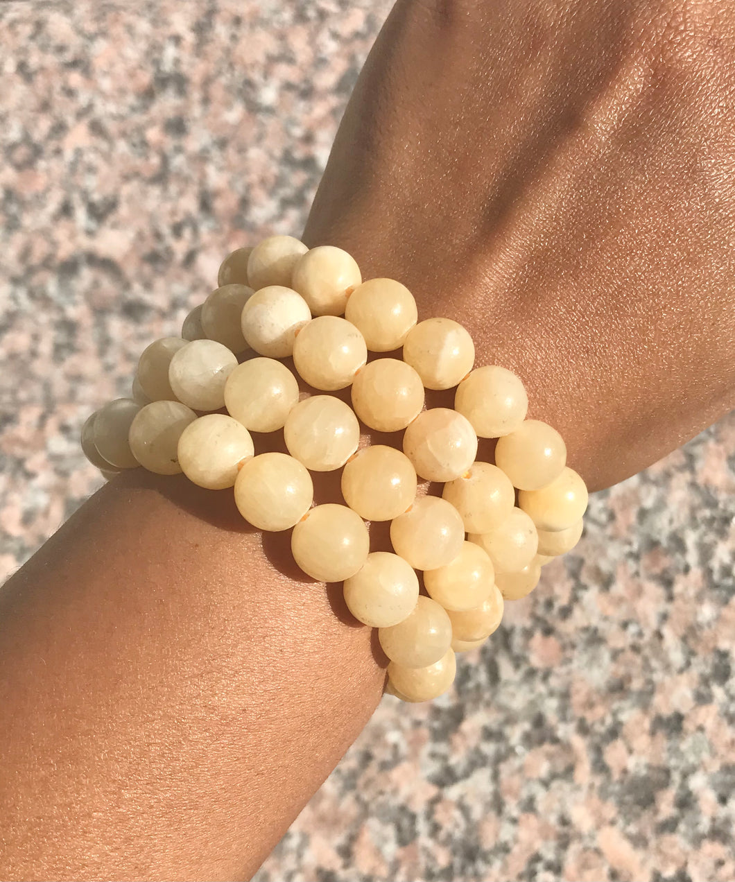 Yellow Calcite Beaded Bracelet - Solar Plexus - Confidence, Hope & Wisdom