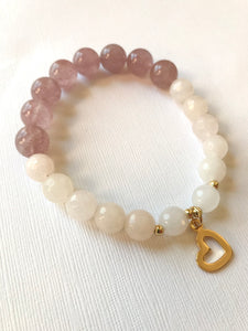 Strawberry Quartz & Pink Aventurine Bracelet - Universal Love & Happiness