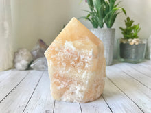 Load image into Gallery viewer, Orange Calcite Standing Point (2)
