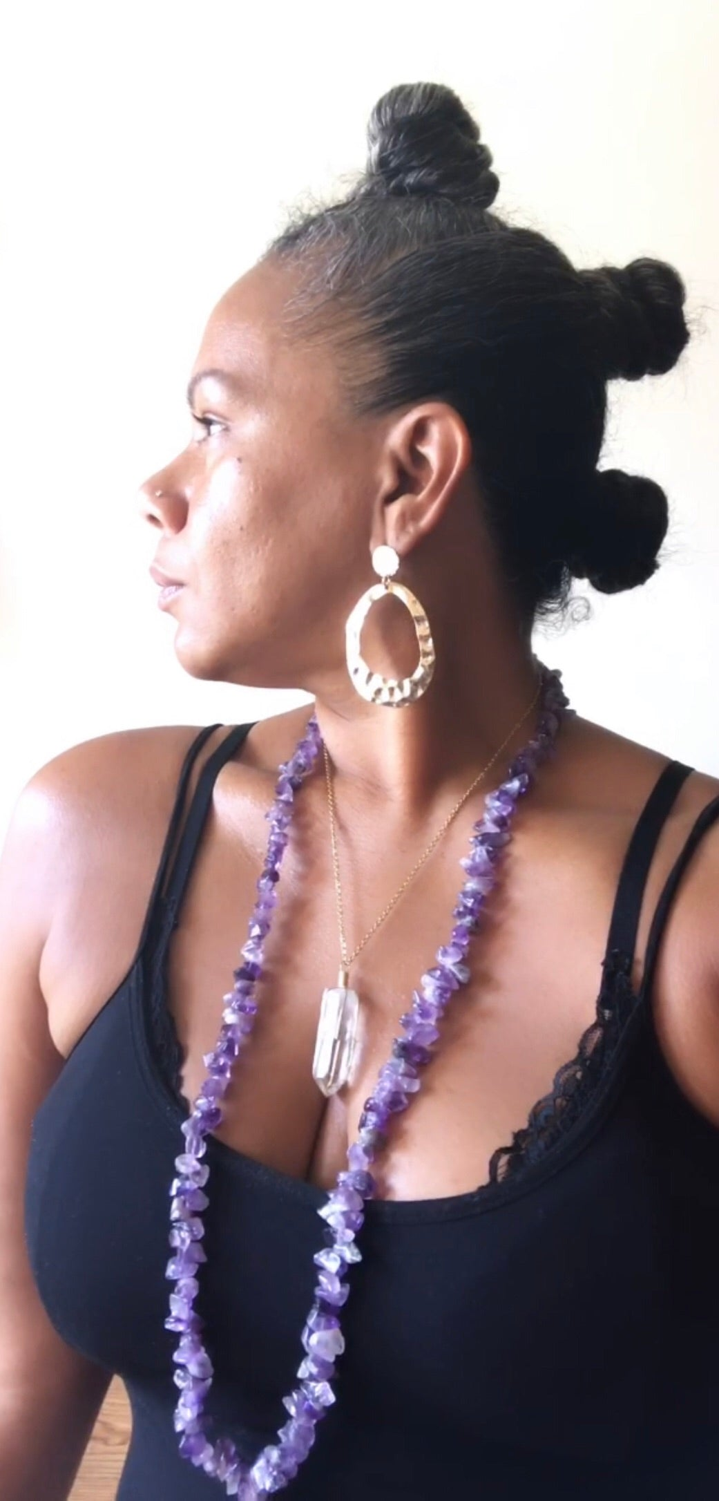Amethyst Large Chip Necklace