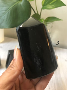 Polished Black Tourmaline