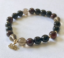 Load image into Gallery viewer, Root Chakra Bracelet with Lotus Charm