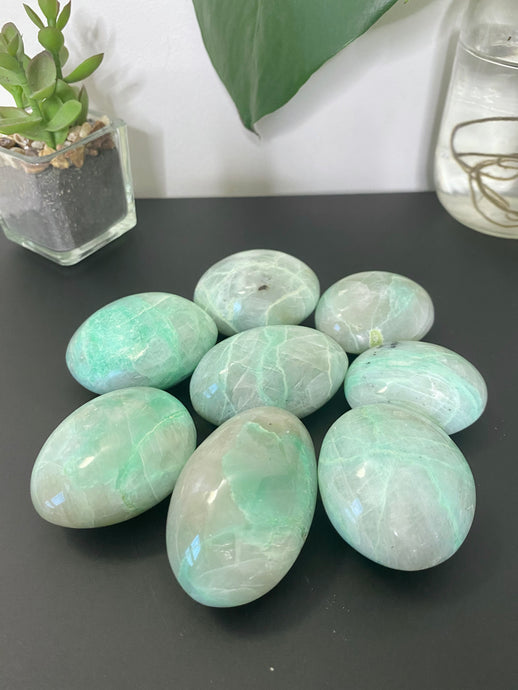 Green Moonstone (Garnierite) Palm Stone
