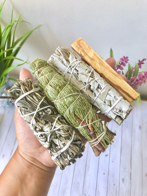 Smudge it Better Bundle - White Sage, Cedar, Yerba Santa and Palo Santo