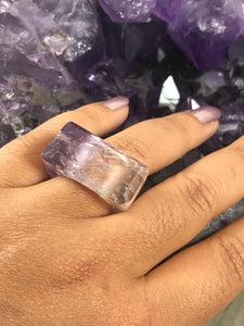 Amethyst Ring - Solid Amethyst Ring