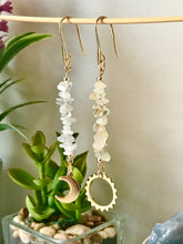 Load image into Gallery viewer, Sun & Moon - Citrine & Moonstone Dangle Earrings