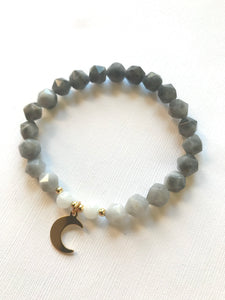 Eagle Eye & Moonstone - Moon Bracelet