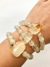 Load image into Gallery viewer, Citrine Bracelet with Citrine Nugget