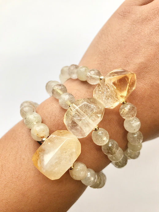 Citrine Bracelet with Citrine Nugget