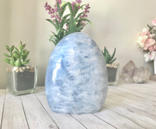 Load image into Gallery viewer, Blue Calcite Free Form Standing Stone (1)