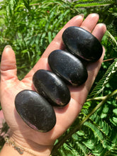 Load image into Gallery viewer, Shungite Palm Stone (ONE stone)