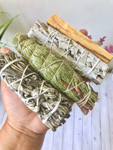 Load image into Gallery viewer, Smudge it Better Bundle - White Sage, Cedar, Yerba Santa and Palo Santo
