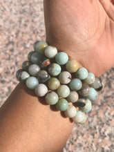Load image into Gallery viewer, Amazonite Beaded Bracelet - Throat/Heart Chakra - Courage, Loving Communication