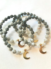 Load image into Gallery viewer, Eagle Eye & Moonstone - Moon Bracelet