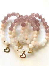 Load image into Gallery viewer, Strawberry Quartz & Pink Aventurine Bracelet - Universal Love & Happiness