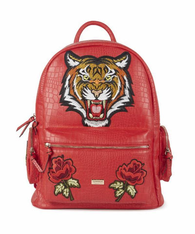 Reason Clothing Croc Skin Tiger Backpack - Red
