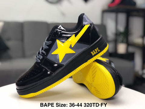 Ape Shall Never Kill Ape Sneakers - Black/Yellow