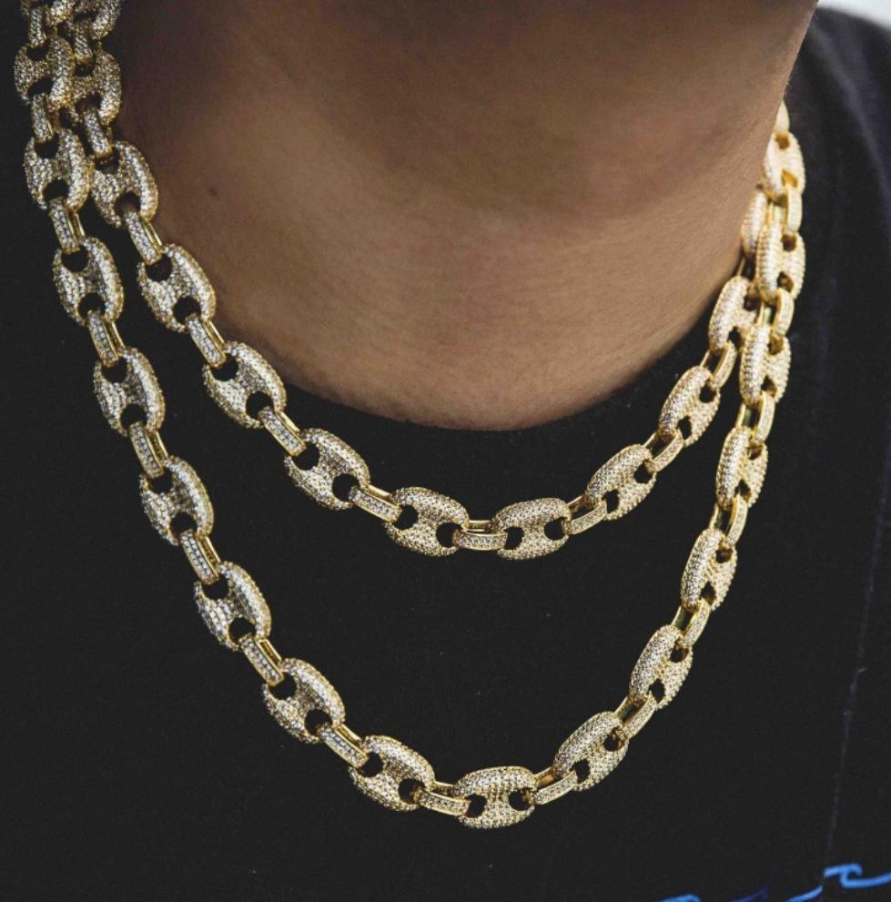 The Gld Shop Iced GG Link Necklace - Gold