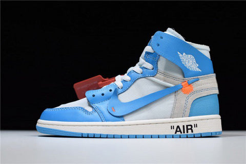 Blue Retro High Top Sneakers