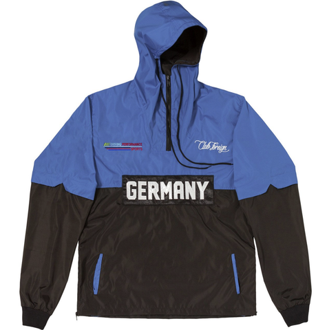 Club Foreign Performance Windbreaker Jacket - Blue/Black