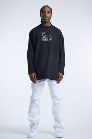 Karl Kani Ambition Long Sleeve Tshirt - Black