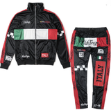 Club Foreign NYC Italy Mafiya Trackpants - Black/Red/Green