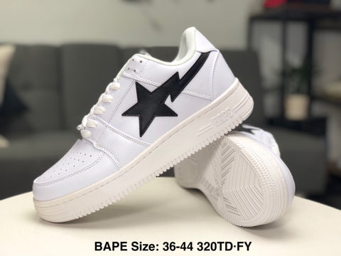Ape Shall Never Kill Ape Sneakers - White/Black