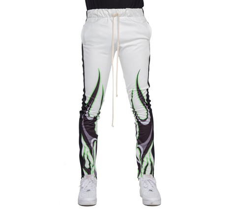 EPTM USA WHITE/BLACK-FLAME SUBLIMATION TRACK PANTS