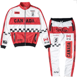 Club Foreign NYC Canada Mafiya TrackPants - White/Red