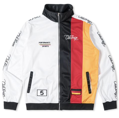 Club Foreign Three Stripes Track Jacket - White