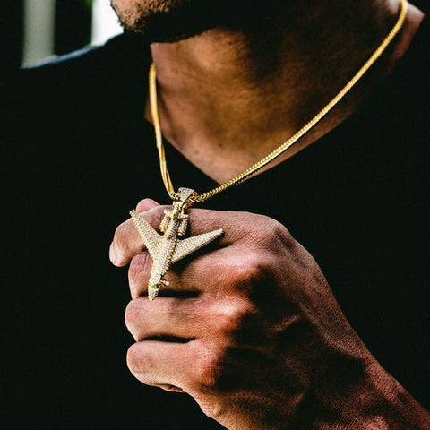 The GLD Shop Private Jet Pendant