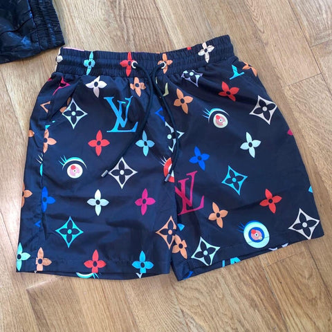 Paris Drip Murakami x Custom LV Shorts - Black