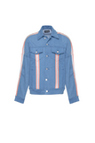 Paraval Jean Jacket (Blue and Highlighter Orange)
