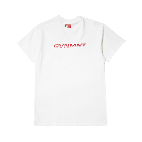 GVNMNT CLOTHING CO RACER T SHIRT - WHITE