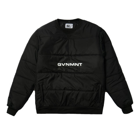 GVNMNT CLOTHING CO PADDED TECH SWEAT - BLACK