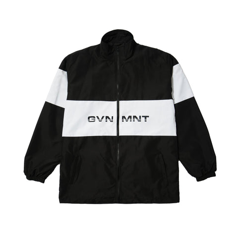 GVNMNT CLOTHING CO MONO TRACK TOP - BLACK