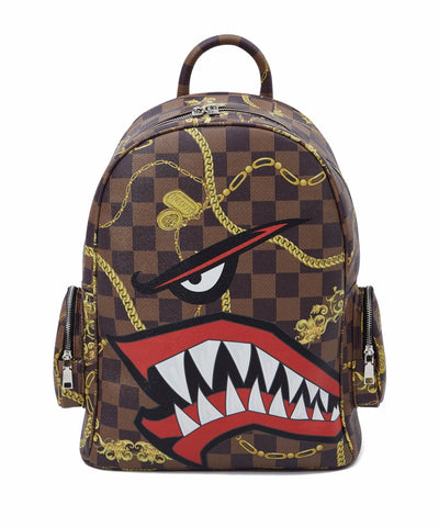 Reason Clothing Face Backpack - Brown