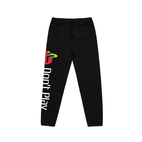 Brast Don't Play Hooded Sweat Pants- Black