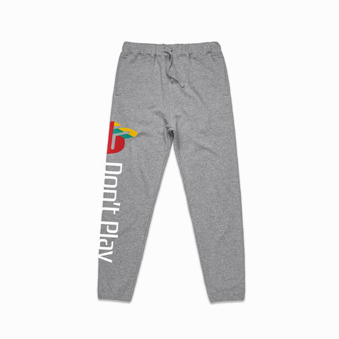 Brast Don't Play Hooded Sweat Pants- Grey