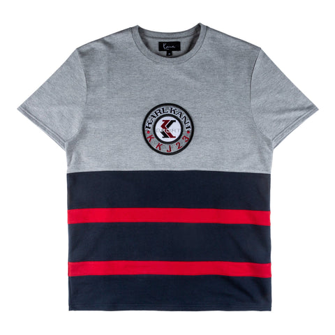 Karl Kani Atlantic T-shirt - Grey/Black/Red