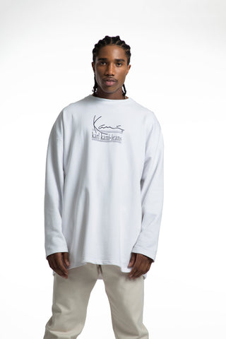Karl Kani Ambition Long Sleeve Tshirt - White