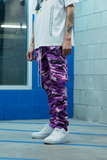 Paraval Vacation Collection Cargo Pants (Purple)