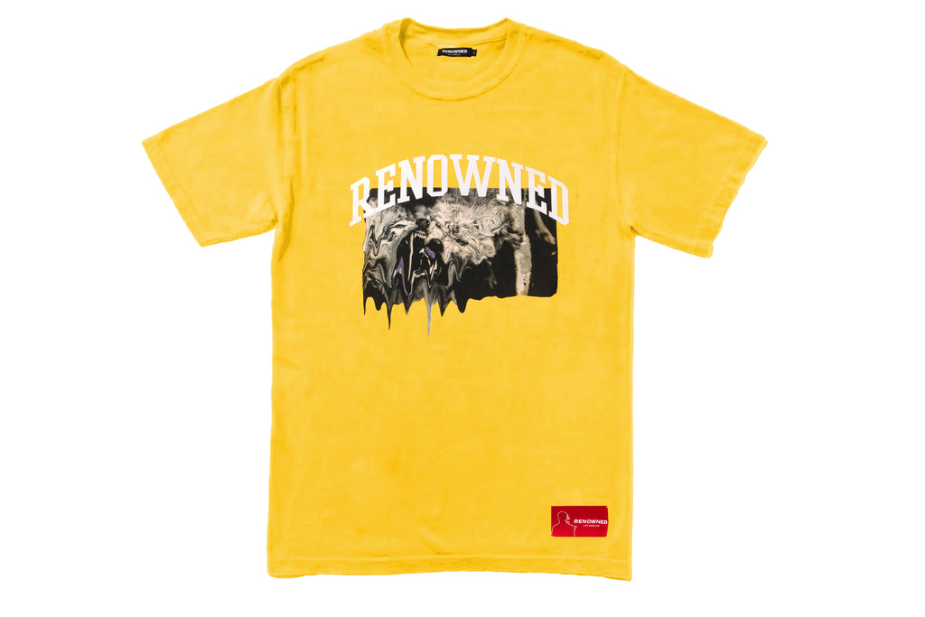 Renowned LA Wolves In Paradise Tee - Yellow